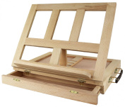 Greenco Beech-wood Portable Art Desk Easel And Book Stand With Drawer