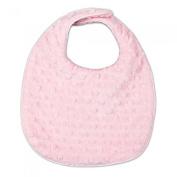 My Blankee Minky Dot Reversible Bib, Pink with Organic White Pima Cotton
