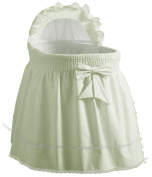 Baby Doll Sea Shell Bassinet Liner, Mint