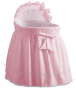 Baby Doll Sea Shell Bassinet Liner, Pink