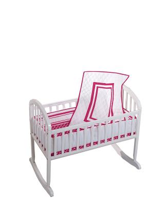 Baby Doll Soho Cradle Bedding Set, Red