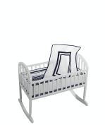 Baby Doll Soho Cradle Bedding Set, Navy