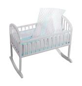 Baby Doll Soho Cradle Bedding Set, Aqua