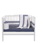Baby Doll Soho Port-a-Crib Bedding Set, Navy