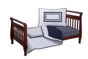 Baby Doll Soho Toddler Bedding Set, Navy