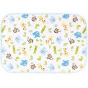 Three Layer Fabric Waterproof Baby Mat Infant Crib Sheet 50 x 70 CM Monkey