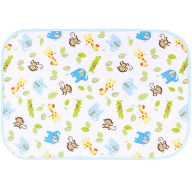 Three Layer Fabric Waterproof Baby Mat Infant Crib Sheet 50 x 70 CM Monkey