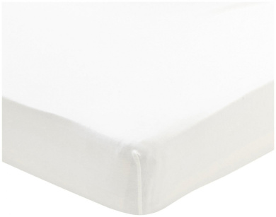 Oeuf Crib/Toddler Fitted Sheet, White