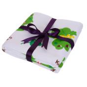 JISEN® Baby Newborn Muslin Cotton Warm Baby Bath Towels Also for Baby Blanket,Frog Cartoon Style,Baby Gifts