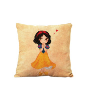 Short black hair princess Pillow Home Decorative pillowcase Cushion cover Girl's gift