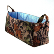 Camouflage Nappy Caddy with Blue Lining