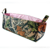 Camouflage Nappy Caddy with Pink Lining