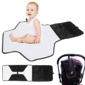 Mightyhand Baby Nappy Changing Pad - Nappy Changing Mat with Storage Pockets - Portable Nappy Changing Station for Travel and Home