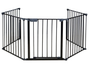 Generic New Fireplace Fence Baby Safety Fence Hearth Gate BBQ Metal Fire Gate Pet Dog Cat