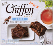 HAITAI chiffon cake cacao 300g*(pack of 2) Soft chiffon cake Children nutritious snacks Party food promotion Gifts korean snack