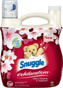 Snuggle Exhilarations Concentrated Fabric Softener Liquid, Cherry Blossom Charm, 96 Fluid Ounce
