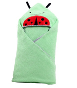 Cotton Cute ladybird Animal Cartoon Pattern Baby Infant Kid's Adorable Bath Hooded Towel Wrap
