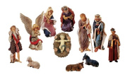 LB International 90cm 12 Piece Outdoor Nativity Christmas Yard Art Stable and Statue Set, Large