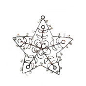 8.9cm Handcrafted Rustic Distressed Finish Jewelled Star Christmas Ornament