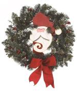 TII - 60cm Santa Claus Face Christmas Wreath