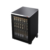 Fagor Refrigeration FBB-24G Single Section Glass Door Refrigerated Food Rated Back Bar Cooler