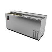 Fagor Refrigeration FBC-65S Stainless Steel Flat Top 170cm - 1.3cm Bottle Cooler
