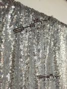 4FTX1.8m Silver Shimmer Sequin Fabric Photography Backdrop