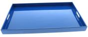Kotobuki 270-895 Rectangular Gloss Lacquer Serving Tray, 46cm - 1.9cm , Blue