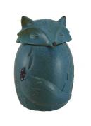 Blue Ceramic Snow Fox Cookie / Treat Jar