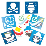 Pirate Plastic Stencils for Children to Decorate Arts and Crafts Cards and Collages