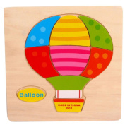 Baby Kids Education Toy, FTXJ Cute Wooden Balloon Cartoon Puzzle Educational Developmental Baby Kids Training Toy
