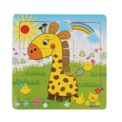 Baby Kids Education Toy, FTXJ Cute Wooden Kids Giraffe Jigsaw Toys For Children Education And Learning Puzzles Toys