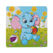 Baby Kids Education Toy, FTXJ Cute Wooden Kids Jigsaw Toys For Children Education And Learning Puzzles Toys Elephant