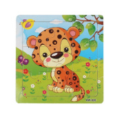 Baby Kids Education Toy, FTXJ Cute Wooden Kids Jigsaw Toys For Children Education And Learning Puzzles Toys Leopard
