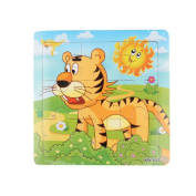 Baby Kids Education Toy, FTXJ Cute Wooden Kids Jigsaw Toys For Children Education And Learning Puzzles Toys Tiger