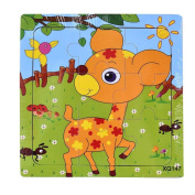 Baby Kids Education Toy, FTXJ Cute Wooden Kids Jigsaw Toys For Children Education And Learning Puzzles Toys Fawn