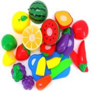 Baby Kids Education Toy, FTXJ Cute Mini Cutting Fruit Vegetable Pretend Play Children Kid Educational Toy 11PCS