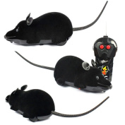 Baby Kids Education Toy, FTXJ Cute Mini Scary RC Remote Controller Simulation Plush Mouse Mice Kid Toy Gift Black
