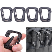XTACER Tactical Multipurpose D-Ring Grimloc Locking Hanging Hook Tactical Link Snap Keychain for Molle Webbing