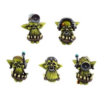 Kromlech Conversion Bitz: Orc Doctor Heads (10)