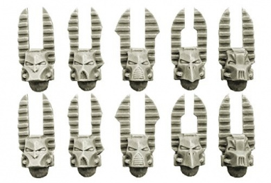 28mm Sci-Fi - Changed Legions: Changed Knight Helmets