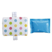 cute colourful polka dot refrigerant cooling pack and holder from Japan