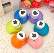 Krismile® 6 Pieces Set Mini Scrapbook Punches Handmade Cutter Card Craft Calico Printing DIY Flower Paper Craft Punch Hole Puncher Shape