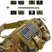 ArcEnCiel Hip Pack Tactical Waist Packs Water-Resistant Waist Bag Fanny Pack Belt Bag Hiking Climbing Outdoor Bumbag