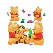 Gadfly- Winnie the Pooh and Tigger Stick Nursery/baby Wall Sticker Decal
