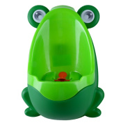Aisport Cute Loverly Frog Baby Toilet Training Children Potty Urinal Pee Trainer Urine,Kids Toddler Urinal Encourages Your Child To Pee With This Removal Toddler Training Potty,Green