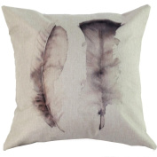Usstore Feather Dragonfly Pillowslip Cushion Cover Pillow Case Home Decor