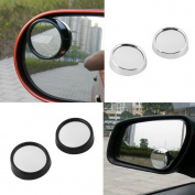 Byency(TM)2pcs universal Driver 2 Side Wide Angle Round Convex Car Vehicle Mirror Blind Spot Auto RearView for all car hot selling