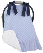 Caught Ya Lookin' Car Seat Cover, Blue/White