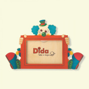 Dida - Photo by wooden table with Clown - frame for horizontal photo